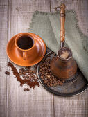Coffee turk and cup of coffee — Stock Photo