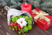 Merry Christmas and Happy New Year decoration — Stock Photo