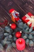Frohe Weihnachten und ein glückliches neues Jahr-Dekoration — Stockfoto