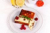 Cheese casserole with raisins and lemon — Fotografia Stock