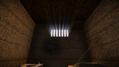 Gevangenis venster — Stockvideo