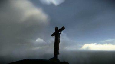 Jesus crucified — Stock Video