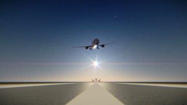 Plane crash on airport runway — Stock video
