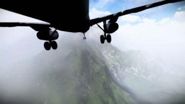 Airplane falling — Stock Video