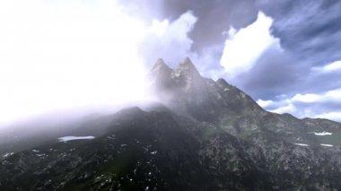 Freezing mountain — Stockvideo