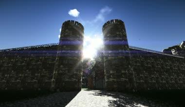 Fortress portal — Stock Video