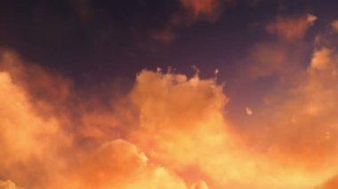 Mythological dragon flying at dusk or dawn — Stock Video