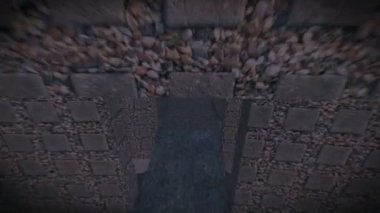 Borgo fortificato medievale di notte — Wideo stockowe