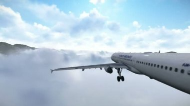 Aircraft falling - Plane crash — Vídeo Stock