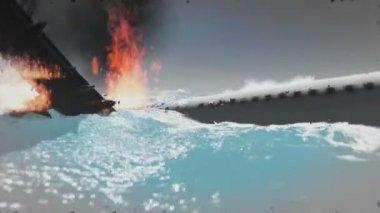 Castaway - Plane crash — Stock Video
