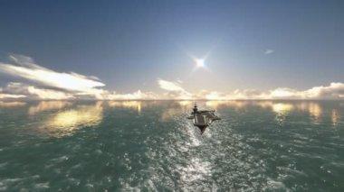 Ship aircraft carrier — Stok video