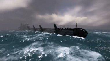Potápějící se loď — Stock video