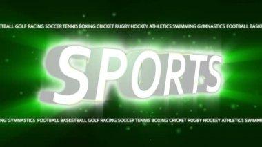 Sport Broadcast intro — Stock Video