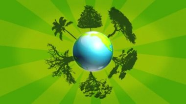Planet trees — Wideo stockowe