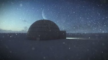 Igloo isolated in the snow — Stok video