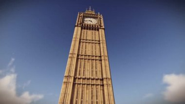 Aircraft flying over the Big Ben in London — Stock Video
