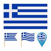 Greece, Europe, country flag vector — Stock Vector