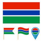 Banjul,country flag — Stock Vector