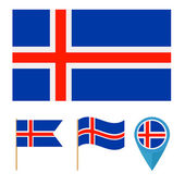 Iceland,country flag — Stock Vector