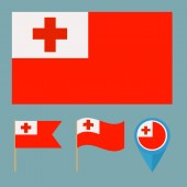 Tonga,country flag — Stock Vector