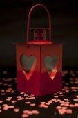 Lanterne avec coeurs — Photo