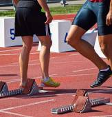 Runners at the running track — Stock Photo