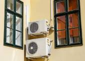 Air conditioners on the wall — Stock Photo