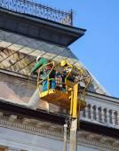 Roof restoring — Stock Photo