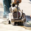 Man is working at the road construction — Stock Photo #69214931
