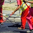 Working at the road construction — Stock Photo #69217615