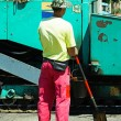 Working at the road construction — Stock Photo #69217639