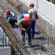 Construction workers at work — Stock Photo #69218061