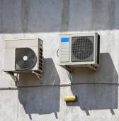 Air conditioners on the wall of a building — Stock Photo