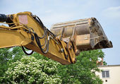 Loader of the excavator — Stock Photo