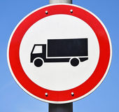 Do not enter with truck traffic sign — Stock Photo