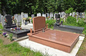 Tombstones in the cemetery — Stock Photo
