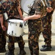 Military band drummer — Stock Photo #74700641