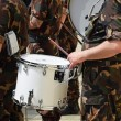 Military band drummer — Stock Photo #74700695