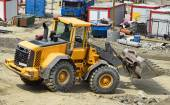Bulldozer at the construction site — Stock Photo
