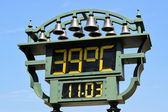 Thermometer on the street — Stock Photo