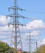 Elektrické sloupy — Stock fotografie