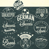 Retro vintage style soccer emblem collection. — Stock Vector