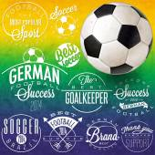 Retro vintage style soccer emblem collection. — Stockvektor