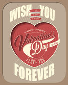 Happy Valentine's Day lettering in vintage styled design. — Stock Vector