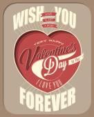 Happy Valentine's Day lettering in vintage styled design. — Vector de stock