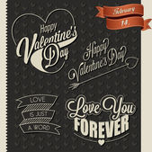 Happy Valentine's Day lettering in vintage styled design. — Wektor stockowy