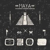 Design elements mystical signs and symbols of the Maya. — Vetorial Stock