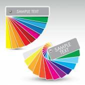 Colour guide — Stock Vector