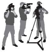 Video camera operator — Stock Vector