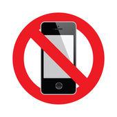 žádný mobil znamení — Stock vektor
